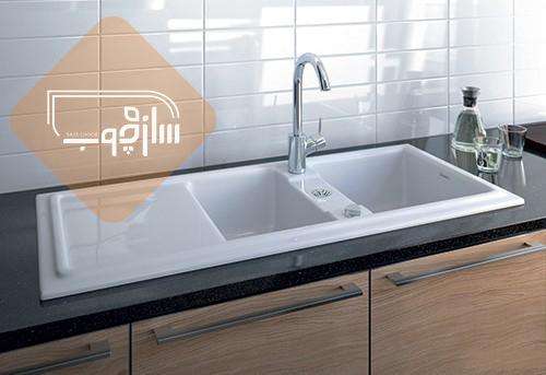 سینک ظرفشویی های دو لگنه با سایز ۴۰/۶۰